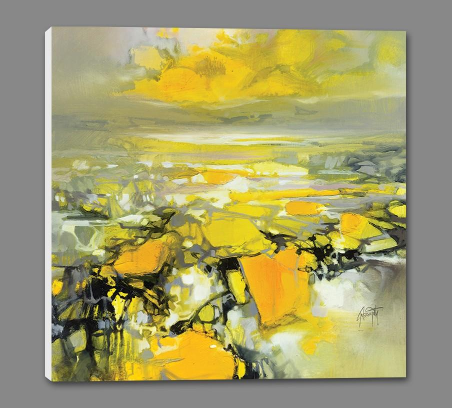 45165_GS1_ - titled 'Yellow Matter 2' by artist Scott Naismith - Wall Art Print on Textured Fine Art Canvas or Paper - Digital Giclee reproduction of art painting. Red Sky Art is India's Online Art Gallery for Home Decor - 55_WDC98285