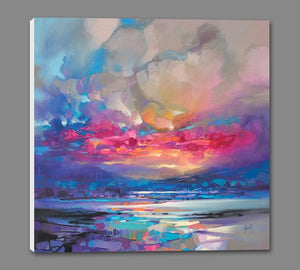 45171_GS1_ - titled 'Quantum Skye' by artist Scott Naismith - Wall Art Print on Textured Fine Art Canvas or Paper - Digital Giclee reproduction of art painting. Red Sky Art is India's Online Art Gallery for Home Decor - 55_WDC98333