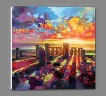 45175_GS1_ - titled 'Stonehenge Equinox' by artist Scott Naismith - Wall Art Print on Textured Fine Art Canvas or Paper - Digital Giclee reproduction of art painting. Red Sky Art is India's Online Art Gallery for Home Decor - 55_WDC98337