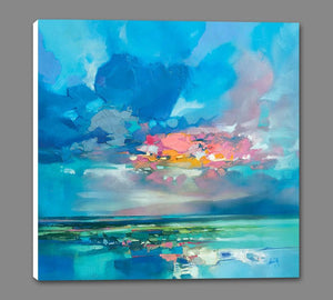 45181_GS1_ - titled 'Arran Blue' by artist Scott Naismith - Wall Art Print on Textured Fine Art Canvas or Paper - Digital Giclee reproduction of art painting. Red Sky Art is India's Online Art Gallery for Home Decor - 55_WDC98356