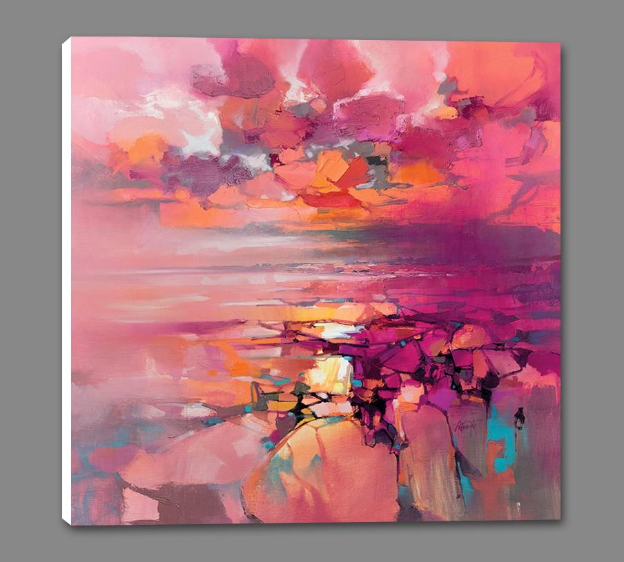 45182_GS1_ - titled 'Coral' by artist Scott Naismith - Wall Art Print on Textured Fine Art Canvas or Paper - Digital Giclee reproduction of art painting. Red Sky Art is India's Online Art Gallery for Home Decor - 55_WDC98357