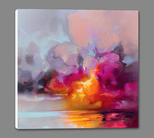 45184_GS1_ - titled 'Cumulus Cluster' by artist Scott Naismith - Wall Art Print on Textured Fine Art Canvas or Paper - Digital Giclee reproduction of art painting. Red Sky Art is India's Online Art Gallery for Home Decor - 55_WDC98359
