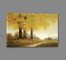34644_GS1_- titled 'Meadow Path' by artist Samuel - Wall Art Print on Textured Fine Art Canvas or Paper - Digital Giclee reproduction of art painting. Red Sky Art is India's Online Art Gallery for Home Decor - 761_TR10818