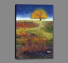 34513_GS1_- titled 'Dreaming Tree In The Field' by artist Melissa Graves-Brown - Wall Art Print on Textured Fine Art Canvas or Paper - Digital Giclee reproduction of art painting. Red Sky Art is India's Online Art Gallery for Home Decor - 761_TR15463