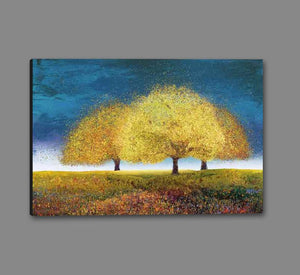 76018_GS1_- titled 'Dreaming Trio' by artist  Melissa Graves-Brown - Wall Art Print on Textured Fine Art Canvas or Paper - Digital Giclee reproduction of art painting. Red Sky Art is India's Online Art Gallery for Home Decor - 761_TR17218