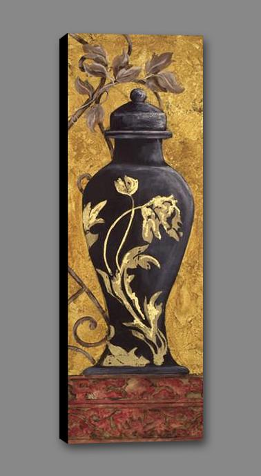 34582_GS1_- titled 'Golden Urn I' by artist Garden Street Gallery - Wall Art Print on Textured Fine Art Canvas or Paper - Digital Giclee reproduction of art painting. Red Sky Art is India's Online Art Gallery for Home Decor - 761_TR3918