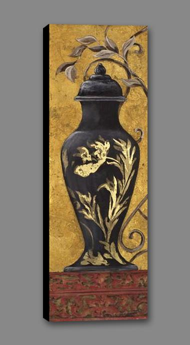 34583_GS1_- titled 'Golden Urn II' by artist Garden Street Gallery - Wall Art Print on Textured Fine Art Canvas or Paper - Digital Giclee reproduction of art painting. Red Sky Art is India's Online Art Gallery for Home Decor - 761_TR3920