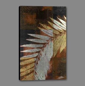 34671_GS1_- titled 'Palm Frond 1' by artist John Butler - Wall Art Print on Textured Fine Art Canvas or Paper - Digital Giclee reproduction of art painting. Red Sky Art is India's Online Art Gallery for Home Decor - 761_TR4047