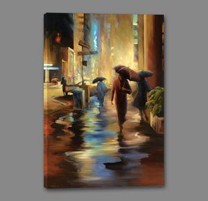 34826_GS1_- titled 'Urban Reflections' by artist Carol Jessen - Wall Art Print on Textured Fine Art Canvas or Paper - Digital Giclee reproduction of art painting. Red Sky Art is India's Online Art Gallery for Home Decor - 761_TR7316