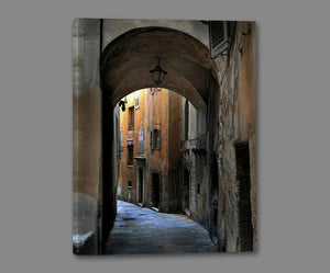 34760_GS1_- titled 'Siena Alley I' by artist Jim Chamberlain - Wall Art Print on Textured Fine Art Canvas or Paper - Digital Giclee reproduction of art painting. Red Sky Art is India's Online Art Gallery for Home Decor - 761_TR8929