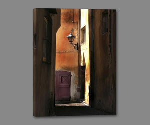 34761_GS1_- titled 'Siena Alley II' by artist Jim Chamberlain - Wall Art Print on Textured Fine Art Canvas or Paper - Digital Giclee reproduction of art painting. Red Sky Art is India's Online Art Gallery for Home Decor - 761_TR8930