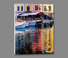 35125_GS1_- titled 'Reflections Of Portofino' by artist Tom Swimm - Wall Art Print on Textured Fine Art Canvas or Paper - Digital Giclee reproduction of art painting. Red Sky Art is India's Online Art Gallery for Home Decor - 762_TR18586