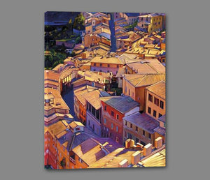 35128_GS1_- titled 'Above Siena' by artist Tom Swimm - Wall Art Print on Textured Fine Art Canvas or Paper - Digital Giclee reproduction of art painting. Red Sky Art is India's Online Art Gallery for Home Decor - 762_TR18599