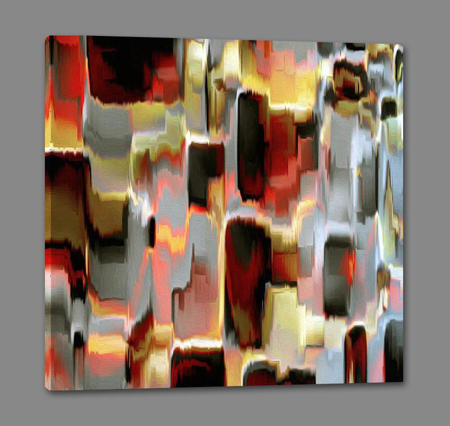 35794_GS1_- titled 'Glass Works 1' by artist James Burghardt - Wall Art Print on Textured Fine Art Canvas or Paper - Digital Giclee reproduction of art painting. Red Sky Art is India's Online Art Gallery for Home Decor - 762_TR36618