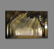 35171_GS1_- titled 'Misty Grove' by artist Steven Mitchell - Wall Art Print on Textured Fine Art Canvas or Paper - Digital Giclee reproduction of art painting. Red Sky Art is India's Online Art Gallery for Home Decor - 763_TR19316