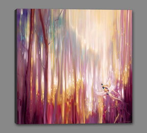 60006_GS1_- titled 'Nebulous Forest' by artist  Gill Bustamante - Wall Art Print on Textured Fine Art Canvas or Paper - Digital Giclee reproduction of art painting. Red Sky Art is India's Online Art Gallery for Home Decor - B4363