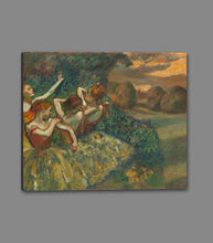 60244_GS1_- titled 'Four Dancers' by artist Edgar Degas - Wall Art Print on Textured Fine Art Canvas or Paper - Digital Giclee reproduction of art painting. Red Sky Art is India's Online Art Gallery for Home Decor - D2493