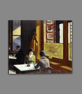 60256_GS1_- titled 'Chop Suey, 1929 ' by artist  Edward Hopper - Wall Art Print on Textured Fine Art Canvas or Paper - Digital Giclee reproduction of art painting. Red Sky Art is India's Online Art Gallery for Home Decor - H2208