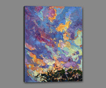 60118_GS1_- titled 'California Sky (top left)' by artist Erin Hanson - Wall Art Print on Textured Fine Art Canvas or Paper - Digital Giclee reproduction of art painting. Red Sky Art is India's Online Art Gallery for Home Decor - H2817