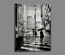 60211_GS1_- titled 'Manhattan Moment' by artist Loui Jover - Wall Art Print on Textured Fine Art Canvas or Paper - Digital Giclee reproduction of art painting. Red Sky Art is India's Online Art Gallery for Home Decor - J861