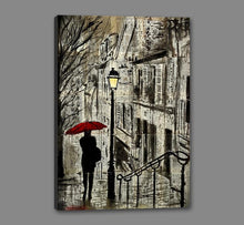 60086_GS1_- titled 'The Walk Home' by artist Loui Jover - Wall Art Print on Textured Fine Art Canvas or Paper - Digital Giclee reproduction of art painting. Red Sky Art is India's Online Art Gallery for Home Decor - J862