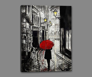 60124_GS1_- titled 'The Delightful Walk' by artist Loui Jover - Wall Art Print on Textured Fine Art Canvas or Paper - Digital Giclee reproduction of art painting. Red Sky Art is India's Online Art Gallery for Home Decor - J885