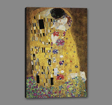 60213_GS1_- titled 'The Kiss' by artist Gustav Klimt - Wall Art Print on Textured Fine Art Canvas or Paper - Digital Giclee reproduction of art painting. Red Sky Art is India's Online Art Gallery for Home Decor - K349