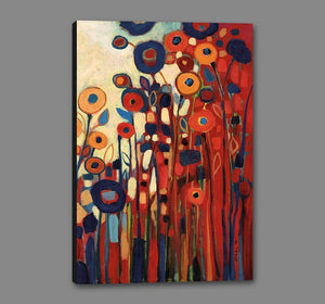 60087_GS1_- titled 'Meet Me In My Garden Dreams Pt. 2' by artist Jennifer Lommers - Wall Art Print on Textured Fine Art Canvas or Paper - Digital Giclee reproduction of art painting. Red Sky Art is India's Online Art Gallery for Home Decor - L4131