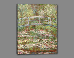 60200_GS1_- titled 'Water Lily Pond, 1899 ' by artist  Claude Monet - Wall Art Print on Textured Fine Art Canvas or Paper - Digital Giclee reproduction of art painting. Red Sky Art is India's Online Art Gallery for Home Decor - M2031
