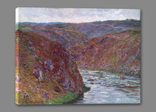60174_GS1_- titled 'Valley of the Creuse (Gray Day), 1889 ' by artist  Claude Monet - Wall Art Print on Textured Fine Art Canvas or Paper - Digital Giclee reproduction of art painting. Red Sky Art is India's Online Art Gallery for Home Decor - M2605