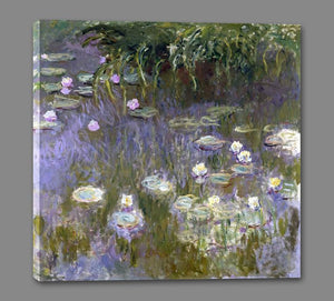 60030_GS1_- titled 'Water Lilies, 1922 ' by artist  Claude Monet - Wall Art Print on Textured Fine Art Canvas or Paper - Digital Giclee reproduction of art painting. Red Sky Art is India's Online Art Gallery for Home Decor - M3061