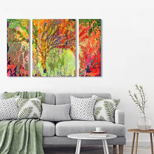 Immersed in Summer A B C - 3 Panel Triptych