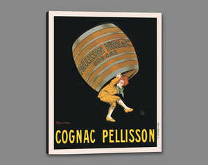 60203_GS1_- titled 'Cognac Pellisson' by artist Vintage Posters - Wall Art Print on Textured Fine Art Canvas or Paper - Digital Giclee reproduction of art painting. Red Sky Art is India's Online Art Gallery for Home Decor - V395
