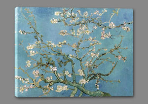 60241_GS1_- titled 'Almond Blossom, 1890' by artist Vincent van Gogh - Wall Art Print on Textured Fine Art Canvas or Paper - Digital Giclee reproduction of art painting. Red Sky Art is India's Online Art Gallery for Home Decor - V401