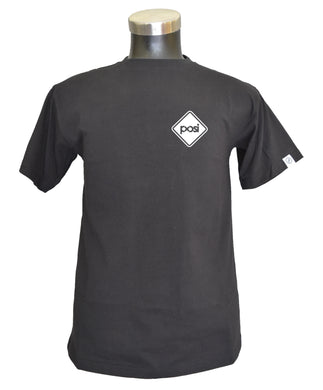 POSI White Diamond KLASSIC BLACK TEE