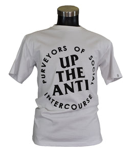 UP THE ANTI LARGE WHITE KLASSIC TEE
