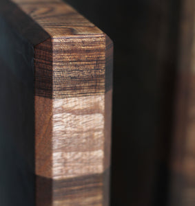 end grain butcher block detail