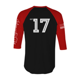 Team Nfitmous 3/4 Sleeve - Black w/ Red