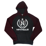 Athletic Pullover - Charcoal w/ Maroon (Premium)