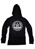 Nfitmous Seal Lightweight Hoody - Black w/ White