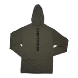 Nfitmous Seal Lightweight Hoody - Military Green w/ Black