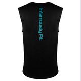 Muscle Tank Tops - Black w/ Neon Blue