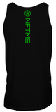Men's Classic Tank Tops - Black w/ Neon Green