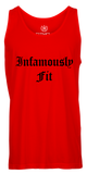 Men's Classic Tank Tops - Red w/ Black
