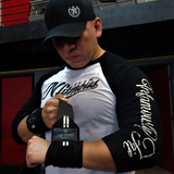 Elite Wrist Wraps - Black w/ White