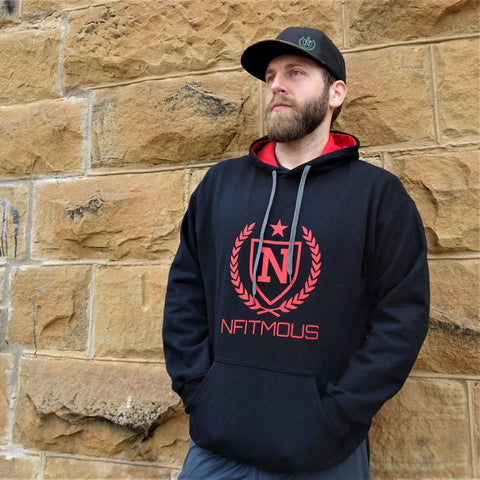 Athletic Pullover - Black w/ Red