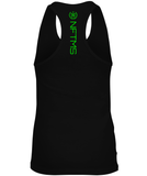 Women's Racerback Tank Tops - Black w/ Neon Green