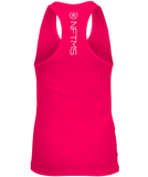 Women's Racerback Tank Tops - Raspberry w/ White