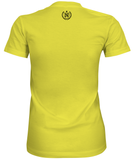 Women's Athletic Shirts - Banana Cream w/ Black