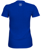 Women's Athletic Shirts - Royal Blue w/ White